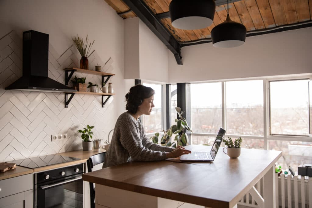 If you are working at home, then note that you'll take long hours and is therefore essential to get the right equipment. This includes a support stand for your laptop, an ergonomic keyboard and a comfortable chair and a drawer etc. you should also assess your workspace ergonomically and design it to suit your job requirements